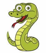 Green Snake — Stock Vector