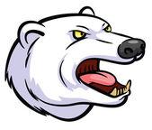 Polar Bear Mascot — Stock Vector