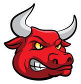 Bull Head Mascot — Stockvector