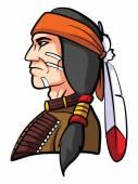Apache Mascot — Stock Vector