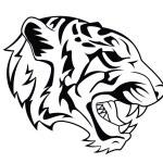 Tiger Head Tattoo — Stock Vector #59132225