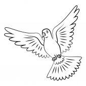 Symbol gołąbka pokoju — Wektor stockowy