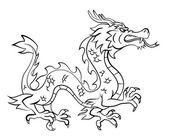 Dragon vectorillustratie — Stockvector