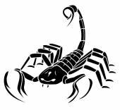 Scorpion MAscot Tattoo — Stock Vector