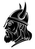 Viking Head Warrior vector illustration — Stock Vector