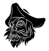 Pirated Skull — Stock Vector