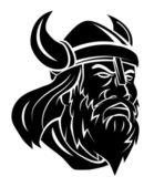Viking Head Vector Illustration — Stock Vector