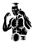 Boxer Player — Stock Vector