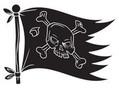 Flag pirate — Stock Vector