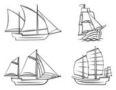 Ship Symbol Set Collection — Vector de stock