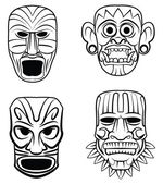 Totem Mask Set Collection — Vecteur