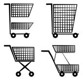 Shopping cart Symbol Set Collection — Vettoriale Stock
