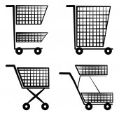Shopping cart Symbol Set Collection — Stockvector