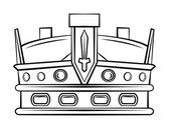 Crown Symbol — Stock Vector