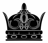 Black Silhouette : Crown Symbol — 图库矢量图片