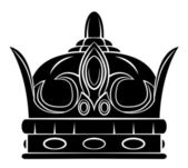 Black Silhouette : Crown Symbol — Stockvector