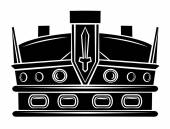 Black Silhouette : Crown Symbol — Stock vektor