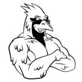 Cardinal Bird Mascot — Stock Vector