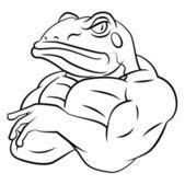Frog Strong Mascot — Stock Vector