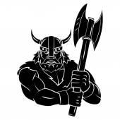 Viking Axe tattoo — Stock Vector