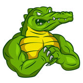 Crocodile Strong Mascot — Stock Vector