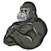 Gorilla Strong Mascot — Stock Vector