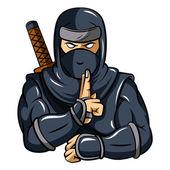 Ninja Mascot — Stock Vector
