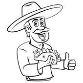 Chef Taco Seller — Stock Vector