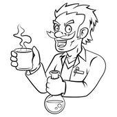 Professor on  white background — Stock Vector