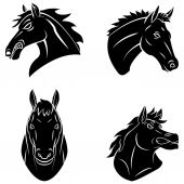 Horses set collection — Stock Vector
