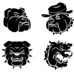 Dog Heads Tattoo set — Stock Vector #65742195