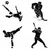 Footballer,athlete, hockey and soccer players — Stock Vector