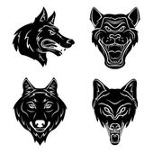 Wolf Head Tattoo — Stock Vector