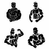 Tattoo Symbol Of Body Builder — Stock Vector