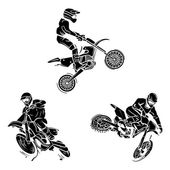 Motocross Tattoo Collection — Stock Vector