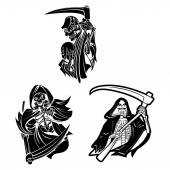Grim Reapers Collection — Stock Vector
