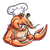 Engraçado Chef de lagosta — Vetor de Stock
