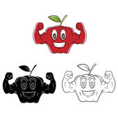 Strong Apples collection — Stockvector