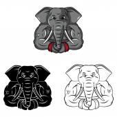 Elephants Mascot collection — Stock Vector