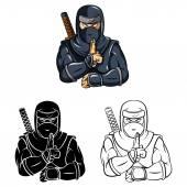 Ninjas Mascot collection — Stock Vector