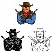 Cowboys men collection — Vector de stock