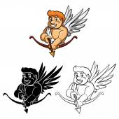 Cupids with Arrow.Mascot — Vetor de Stock