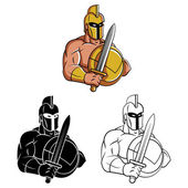 Tattoo Symbol Of Knights Warriors — Stock Vector