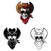 Tattoo Skulls Collection — Stock Vector