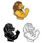 Symbol Of Lion Heads — Vector de stock