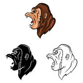 Tattoo Symbols Of Gorillas — Stock Vector