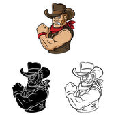 Cowboys men collection — Stock Vector