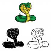 Cobras tattoo Collection — Stock Vector