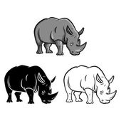 Rhinos tattoo Collection — Stock vektor