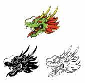 Coloring book Dragon cartoon character — Stock Vector